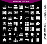 furniture  icon set  | Shutterstock .eps vector #365018438