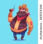 funny  illustration of cute... | Shutterstock .eps vector #365019146