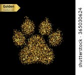 gold glitter vector icon of... | Shutterstock .eps vector #365030624