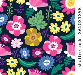 awesome floral pattern go... | Shutterstock .eps vector #365031398