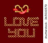 love you intertwined golden...   Shutterstock .eps vector #365033570