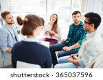 talking in group | Shutterstock . vector #365037596