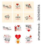 a set of different messages... | Shutterstock .eps vector #365040056