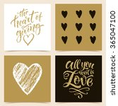 vector collection of four cards ... | Shutterstock .eps vector #365047100