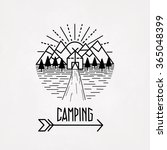 mountain hiking outdoor camping ... | Shutterstock .eps vector #365048399