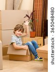 moving into a new house | Shutterstock . vector #365048480