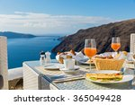 morning and breakfast on the... | Shutterstock . vector #365049428