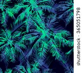 seamless vector  tropical... | Shutterstock .eps vector #365051798