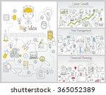 doodle line design of web... | Shutterstock .eps vector #365052389