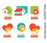 home house and real estate logo ... | Shutterstock .eps vector #365057366