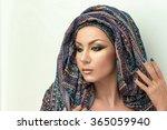 portrait beautiful woman ...   Shutterstock . vector #365059940