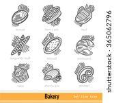 set of kind bakery product...