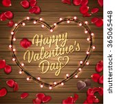 happy valentine's day... | Shutterstock .eps vector #365065448