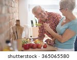 senior marriage cooking... | Shutterstock . vector #365065580