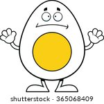 cartoon illustration of an egg... | Shutterstock .eps vector #365068409