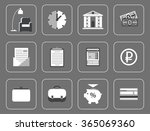 business and finance icons bank | Shutterstock .eps vector #365069360