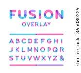 rounded font. vector alphabet... | Shutterstock .eps vector #365080229
