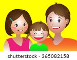 the small family  father ... | Shutterstock .eps vector #365082158