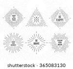 tribal boho style frames with... | Shutterstock .eps vector #365083130