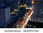 abstract urban night light... | Shutterstock . vector #365094764