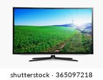 flat television on the white... | Shutterstock . vector #365097218