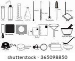 science lab vector icon set...   Shutterstock .eps vector #365098850