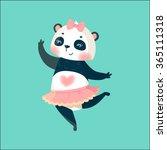 cute dancing panda ballerina... | Shutterstock .eps vector #365111318