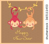 happy new year greeting. vector ... | Shutterstock .eps vector #365111453