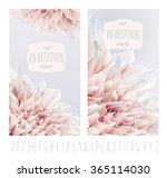 vector flower greeting and... | Shutterstock .eps vector #365114030