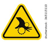 beware moving machinery | Shutterstock .eps vector #365115110