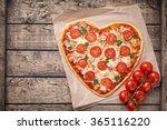 Heart Shaped Pizza Margherita...