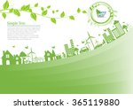 ecology connection concept... | Shutterstock .eps vector #365119880