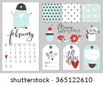 calendar for february 2016 with ...