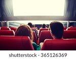 happy couple watching movie in... | Shutterstock . vector #365126369