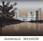 palace on the shore of the lake | Shutterstock .eps vector #365134250