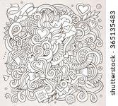 cartoon vector hand drawn love... | Shutterstock .eps vector #365135483