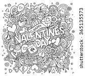 cartoon vector hand drawn... | Shutterstock .eps vector #365135573