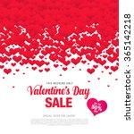 valentine's day sale | Shutterstock .eps vector #365142218