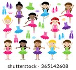 ballet themed vector collection ... | Shutterstock .eps vector #365142608