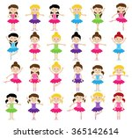 ballet themed vector collection ... | Shutterstock .eps vector #365142614