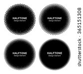 set of abstract halftone dots...   Shutterstock .eps vector #365151308