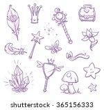 set of fairy princess... | Shutterstock .eps vector #365156333