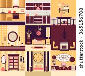 collection of interior design... | Shutterstock .eps vector #365156708
