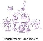 Cute Romantic Mushroom House...