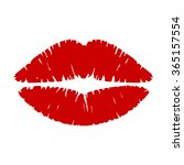 lipstick kiss vector... | Shutterstock .eps vector #365157554