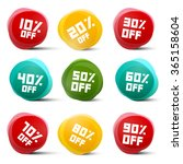 circle vector discount tags set ... | Shutterstock .eps vector #365158604
