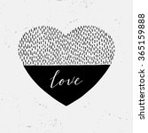 hand drawn heart and the word... | Shutterstock .eps vector #365159888