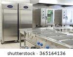 empty restaurant kitchen with... | Shutterstock . vector #365164136