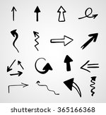 hand drawn arrows  vector set    Shutterstock .eps vector #365166368