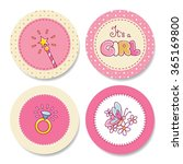 Set Of Colorful Stickers For...